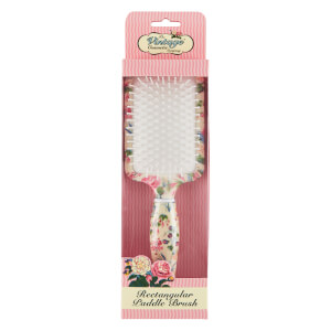 The Vintage Cosmetic Company Floral Rectangular Paddle Hair Brush