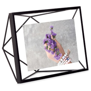 Umbra Prisma Photo Frame - Black - 4 x 6 Inches (10 x 15cm) (Free Gift)