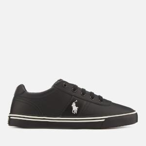 Polo Ralph Lauren Men's Hanford Leather Trainers - Black/Black