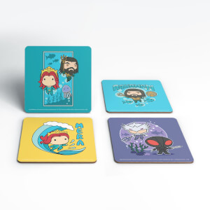 Aquaman Chibi Coaster Set