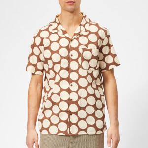 YMC Men's Malick Spot Print Shirt - Brown