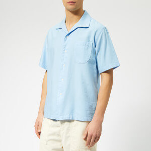 Universal Works Men's Open Collar Shirt - Sky Blue