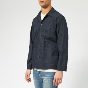 Universal Works Men's Bakers Overshirt - Poplin Navy