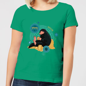 Fantastic Beasts Niffler Women's T-Shirt - Kelly Green