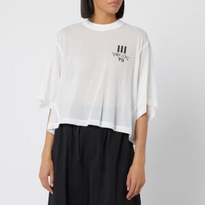 Y-3 Women's Yohji Love Sheer Short Sleeve T-Shirt - Core White