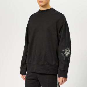 Y-3 Men's Yohji Skull Crew Neck Sweatshirt - Black