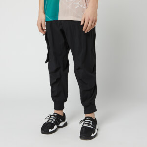 Y-3 Men's Nylon Twill Cargo Pants - Black