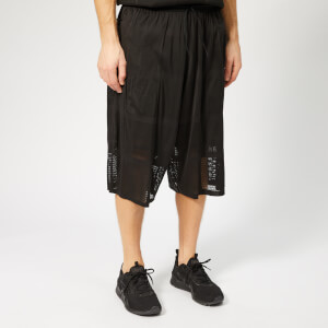 Y-3 Men's Patchwork Mesh Shorts - Black