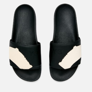 Y-3 Men's Adilette Slide Sandals - Core Black/Core Black