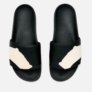 Y-3 Men's Adilette Slide Sandals - Core Black/Core Black