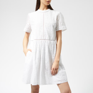 Superdry Women's Shelly Schiffli Dress - White