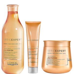 L'Oréal Professionnel Serie Expert Nutrifier Shampoo, Masque and Creme Trio