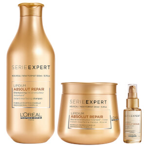 L'Oréal Professionnel Absolut Repair Lipidium Shampoo, Masque and Serum Trio