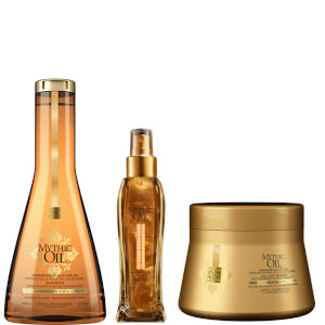 L'Oréal Professionnel Mythic Oil Shampoo, Masque and Shimmering Oil Trio for Normal/Fine Hair