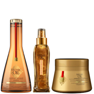L'Oréal Professionnel Mythic Oil Shampoo, Masque and Shimmering Oil Trio for Thick Hair