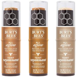 Burt's Bees 100% Natural All Aglow Highlighter Stick 8.5g (Various Shades)