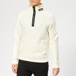 Woolrich Men's Compact Half Zip Jumper - Chalk