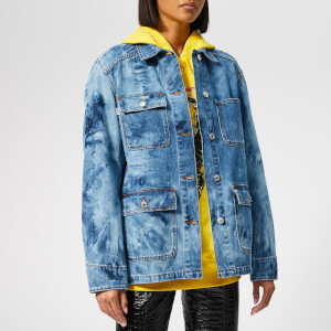 MSGM Women's Oversized Denim Jacket - Blue Navy