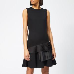 Victoria, Victoria Beckham Women's Asymmetric Pleat Dress - Black
