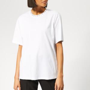 Victoria, Victoria Beckham Women's Logo Rib Victoria T-Shirt - White