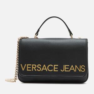 Versace Jeans Women's Logo Shoulder Bag - Black
