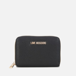 Love Moschino Women's Small Zip Around Wallet - Black