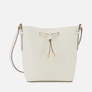 Lauren Ralph Lauren Women's Super Smooth Leather Debby Drawstring Bag - Vanilla/Brown