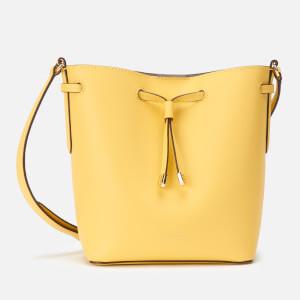 Lauren Ralph Lauren Women's Super Smooth Leather Debby Drawstring Bag - Lemon Sorbet/Alpaca