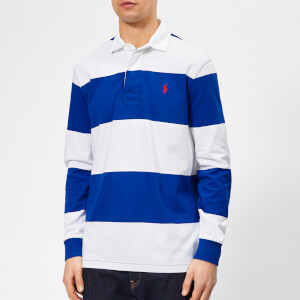 Polo Ralph Lauren Men's Stripe Rugby Shirt - Sapphire Star/Classic Oxford