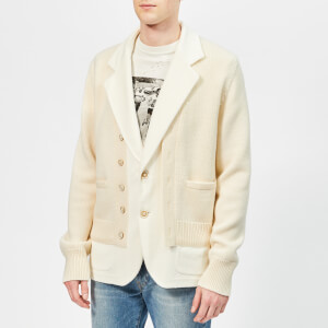 Maison Margiela Men's Terry Cloth Cardigan - Off White