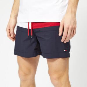 Tommy Hilfiger Men's Flag Medium Drawstring Swim Shorts - Navy Blazer