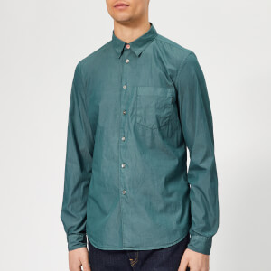 PS Paul Smith Men's Long Sleeve Tailored Fit Shirt - Green