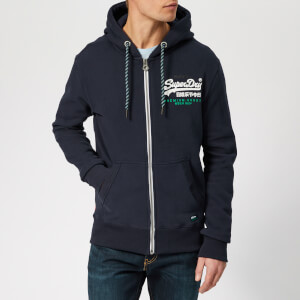 Superdry Men's Zip Through Hoodie - Navy