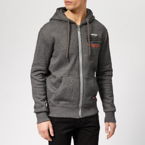 Superdry Men's Zip Through Hoodie - Black Grit