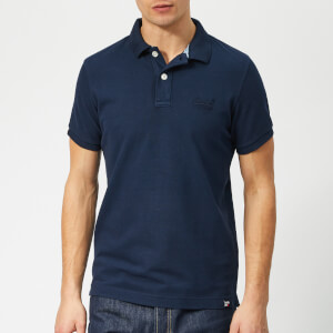 Superdry Men's Vintage Destroy Polo Shirt - Navy