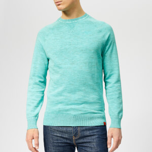 Superdry Men's Garment Dye L.A Crew Neck Jumper - Montrose Green