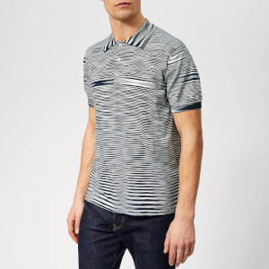 Missoni Men's Knitted Polo Shirt - Blue/White