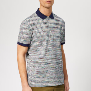 Missoni Men's Pique Stripe Polo Shirt - Blue/Multi