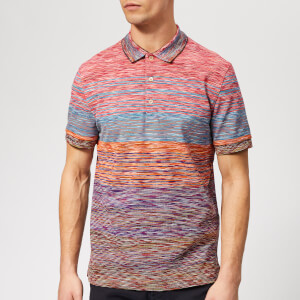 Missoni Men's Stripe Pique Polo Shirt - Multi
