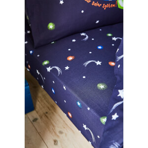 Catherine Lansfield Happy Space Easy Care Single Fitted Sheet - Navy