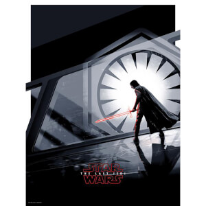 "Star Wars The Last Jedi ""Kylo Ren"" zeefdruk van Matt Ferguson - Zavvi UK Exclusive (46 x 61 cm)"