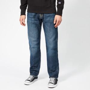 Edwin Men's ED-55 Regular Tapered Rainbow Selvedge Denim Jeans - Hikaru Wash