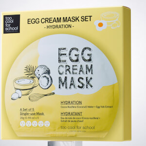 Too Cool For School Egg Cream Hydration Mask Set (5 Masks)