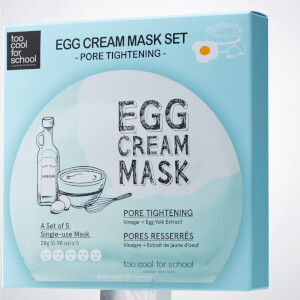 Too Cool For School Egg Cream Pore Tightening Mask Set (5 Masks, Worth $40)