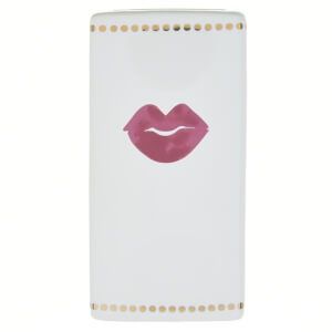 Candlelight Tumbler Lips Design with Gold Dots