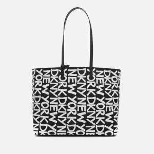 DKNY Women's Brayden Large Reversible Tote Bag - Black/White