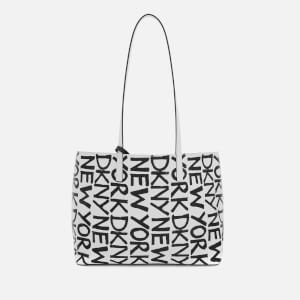 DKNY Women's Brayden Med Reversible Tote Bag - White Wht/Black