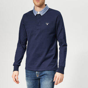 GANT Men's The Original Heavy Rugger - Evening Blue