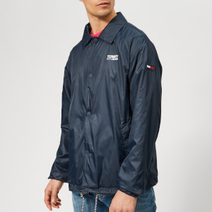 Tommy Jeans Men's Solid Coach Jacket - Navy