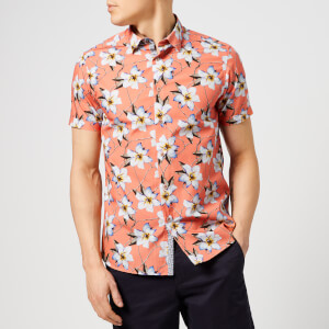 Ted Baker Men's Baboo Short Sleeve Shirt - Coral